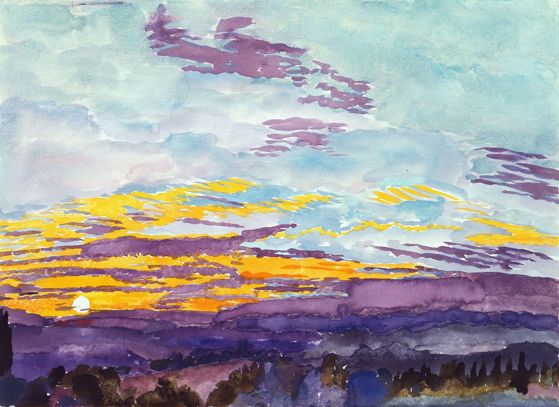 Graham Nickson, Sarageto XXVIII, 2006    Watercolor on paper 22 x 30 inches