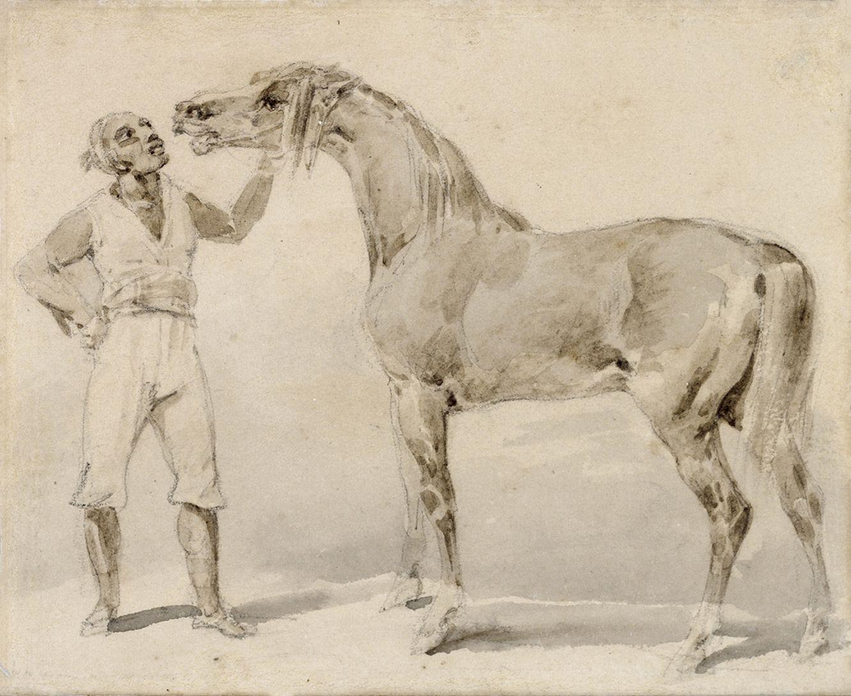 Théodore Géricault Groom Presenting a Horse, 1823