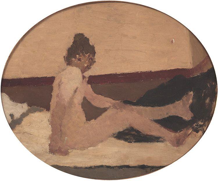 Edouard Vuillard Nu au divan assis, c. 1891