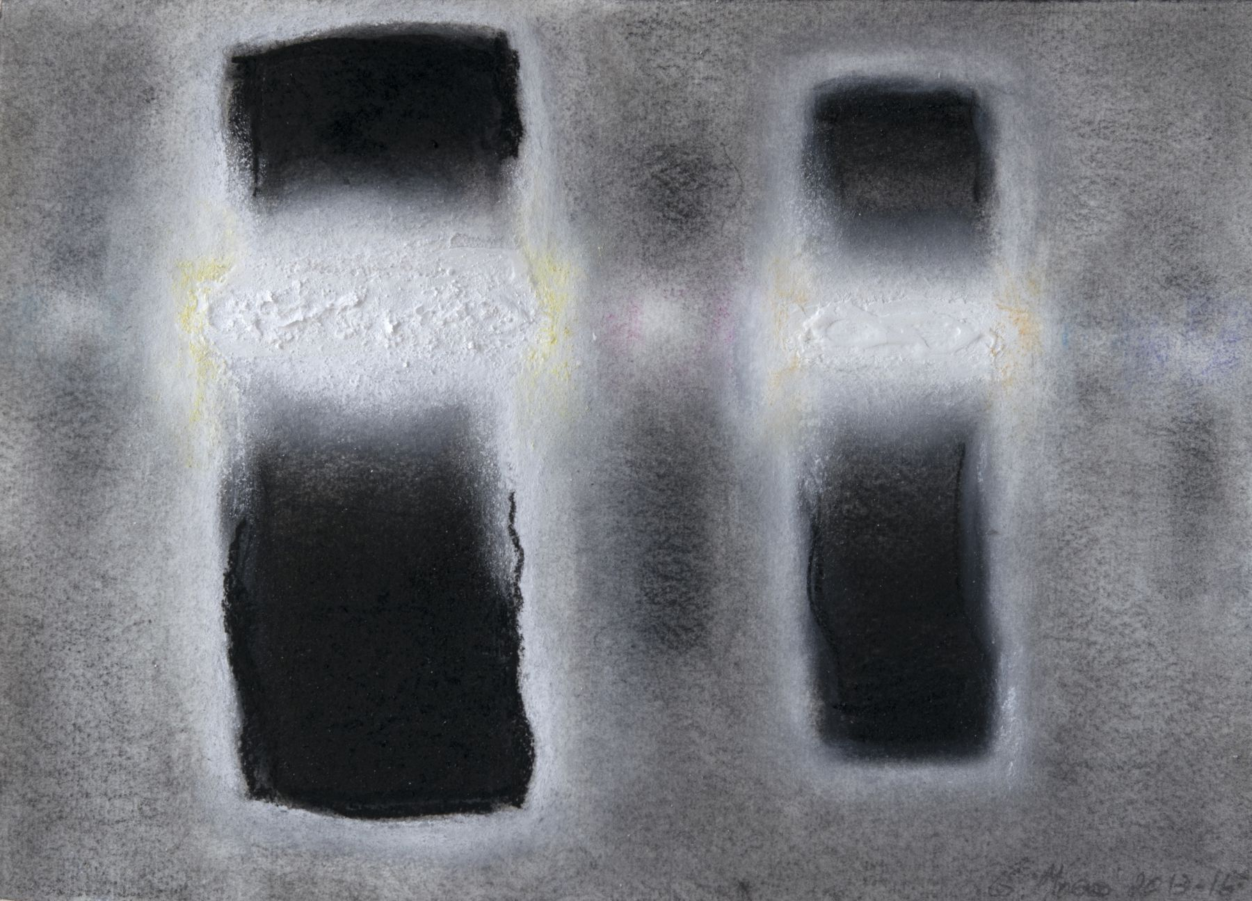 Gerard Mosse, B & W 3, 2013-16  8 1/4 x 11 1/2 in. (21 x 29.2 cm)  Graphite, conte crayon, charcoal, acrylic, pigment, and pastel on hand wove paper