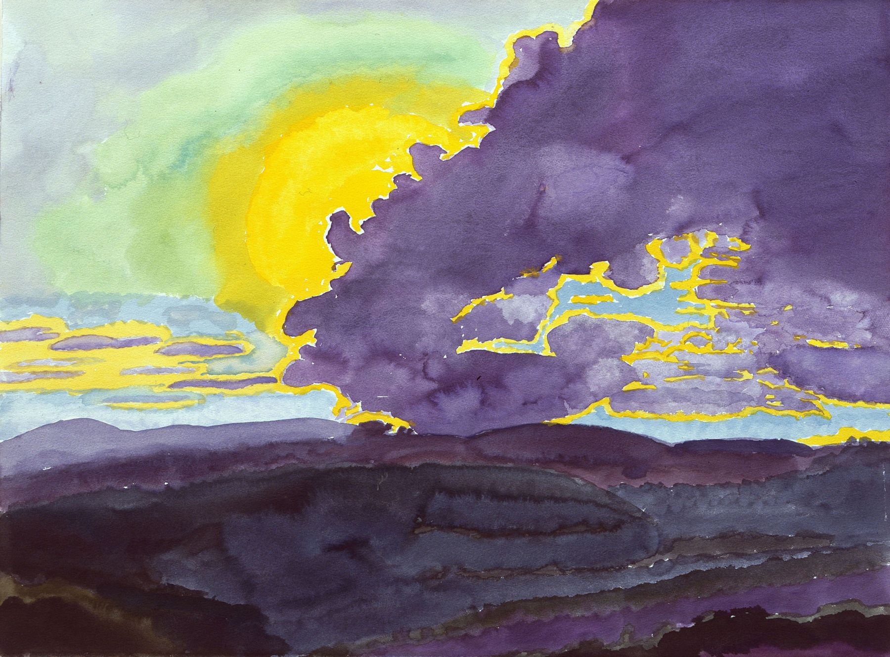 Graham Nickson, Sarageto VIII, 2008    Watercolor on paper 22 x 30 inches