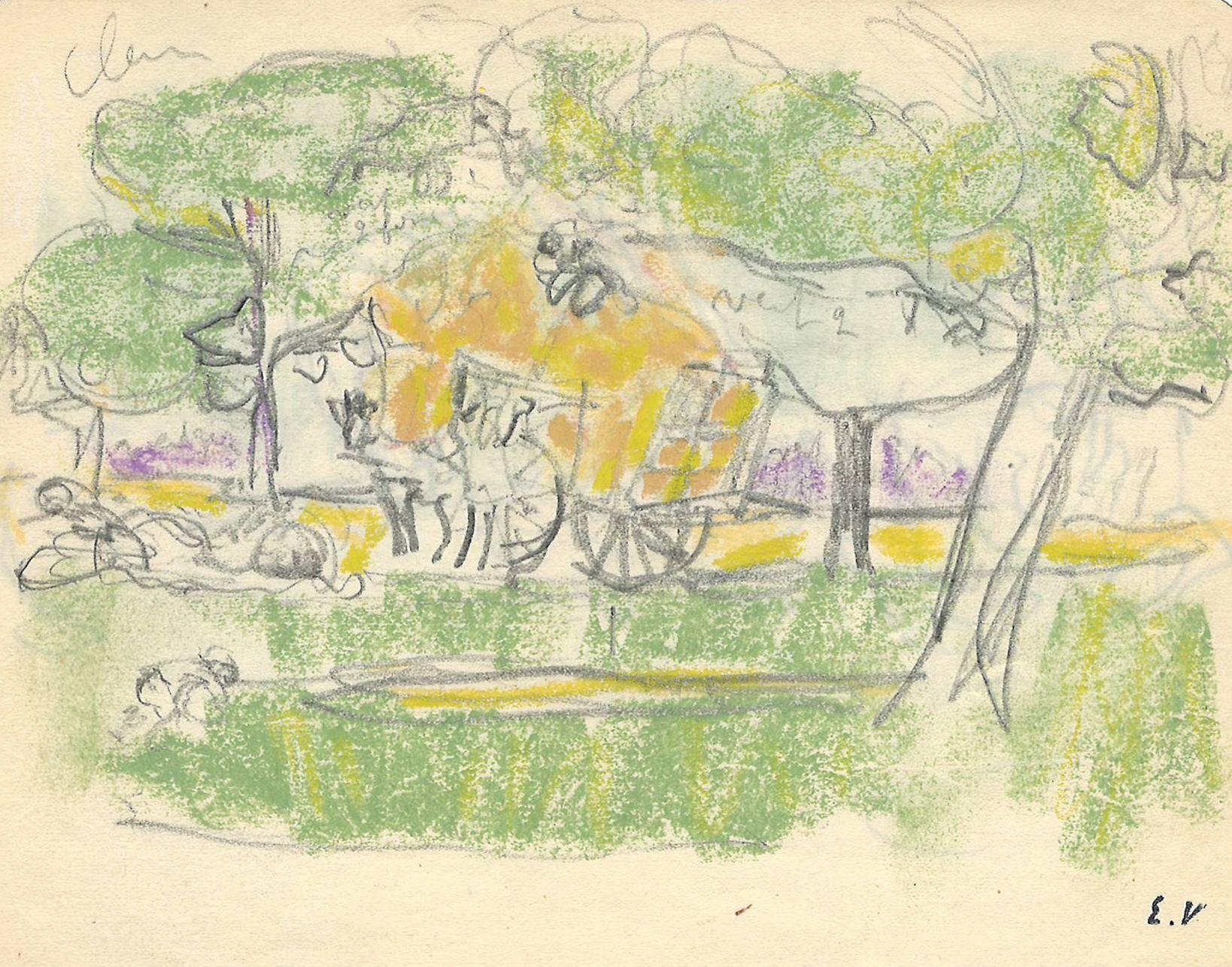 Edouard Vuillard La Charette de foin, c. 1905-07