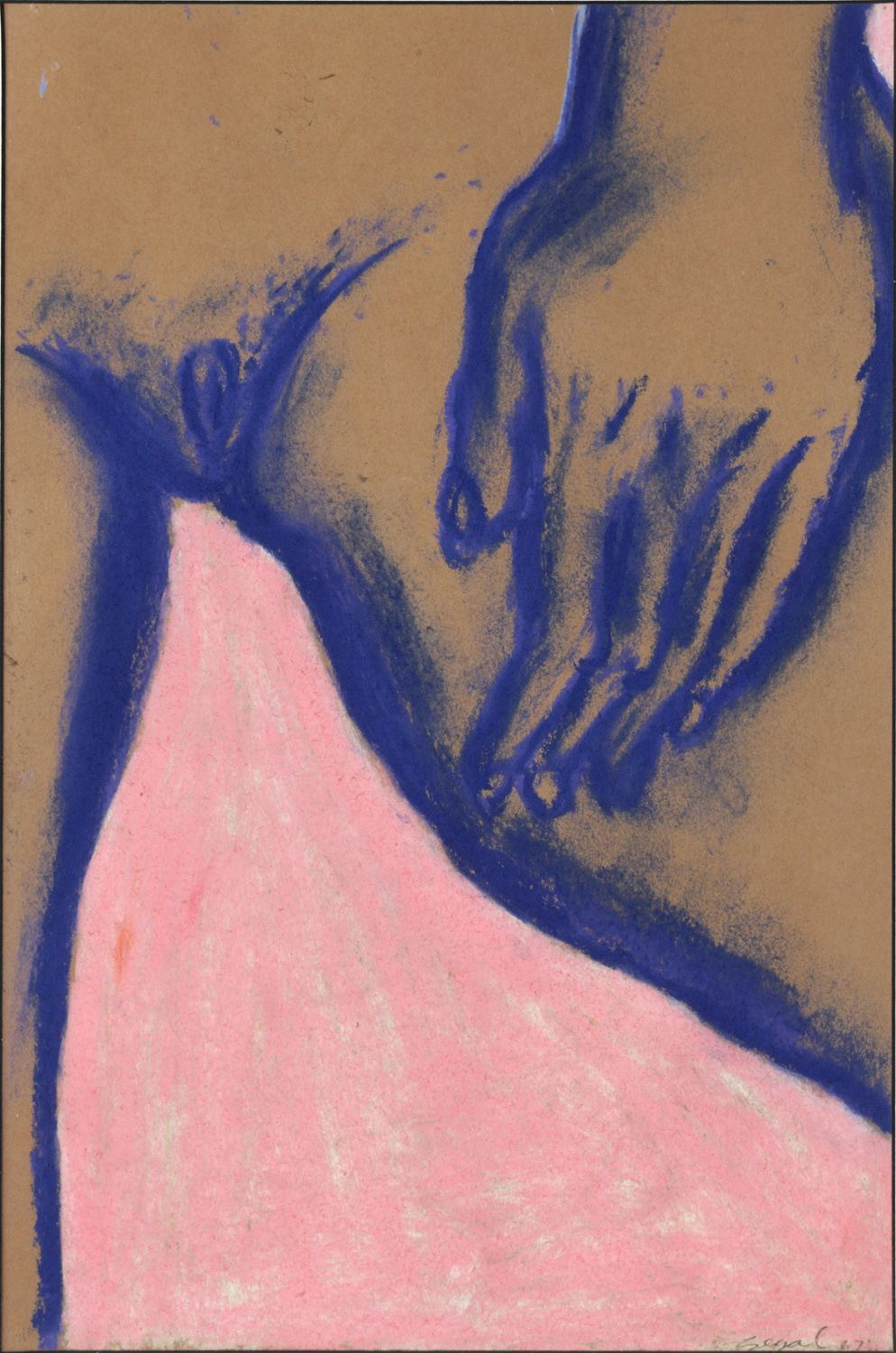 George Segal, Untitled (Hand on Thigh), 1964    Pastel on paper 18 x 12 inches