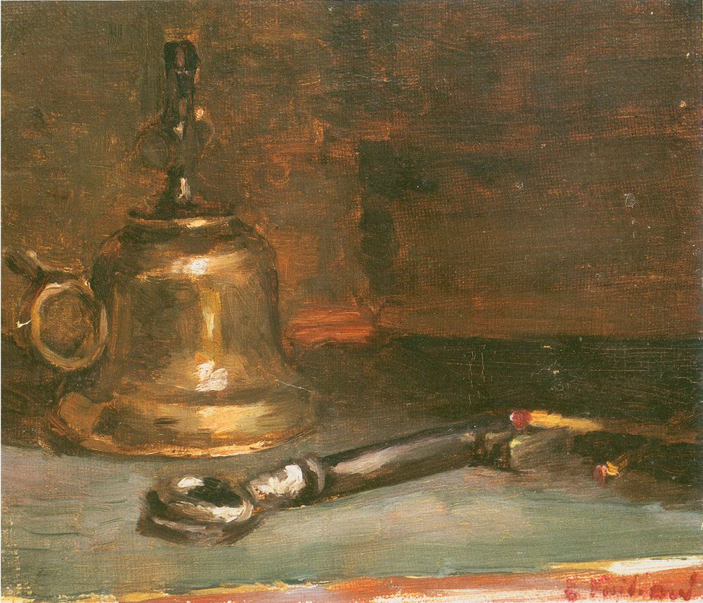 Edouard Vuillard, Oil Lamp, 1888, Oil on canvas 6 1/8 x 6 3/4 inches
