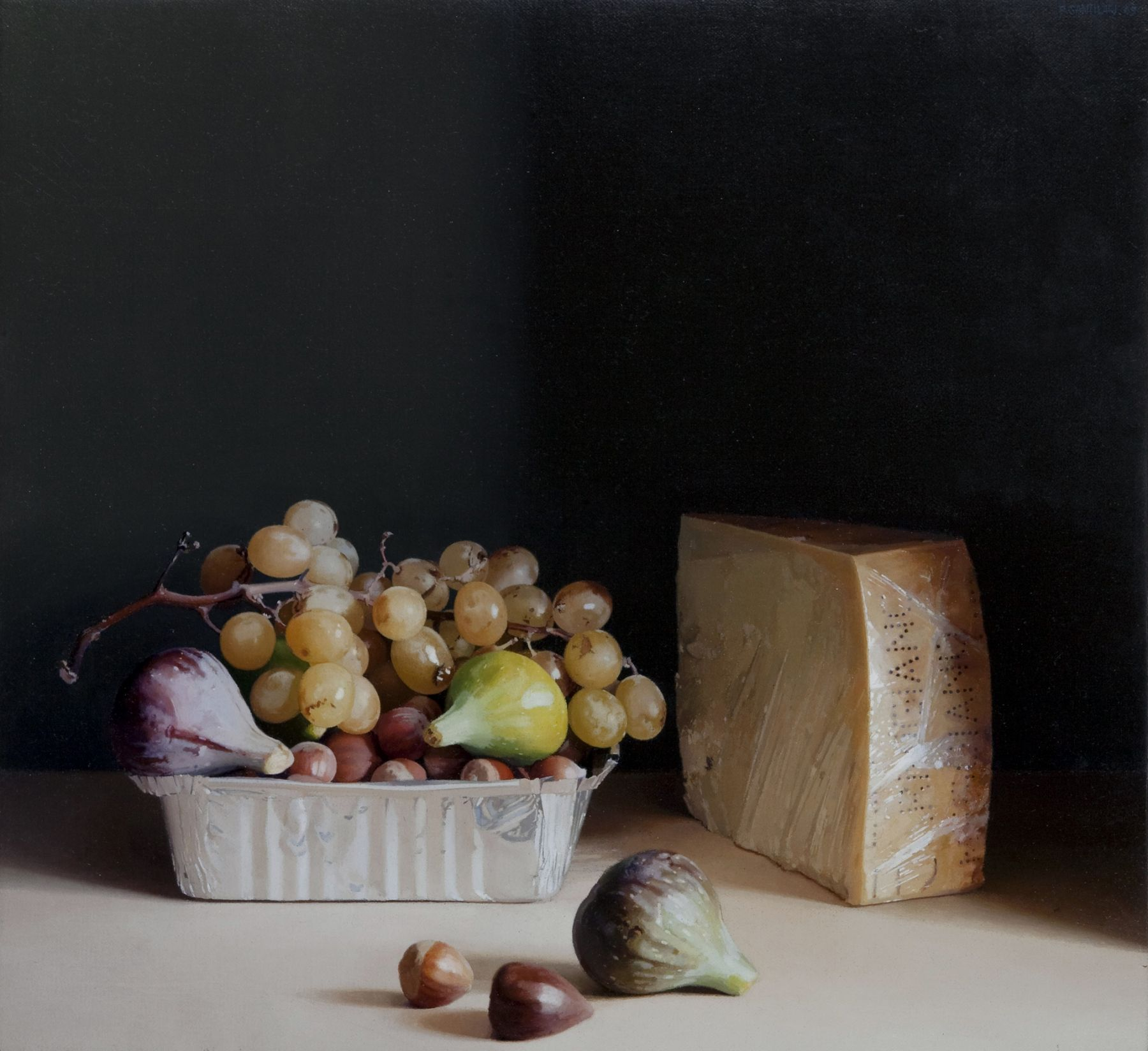Pere Santilari Perarnau    Still Life XX, 2009    Oil on canvas 15 × 16 1/8 inches