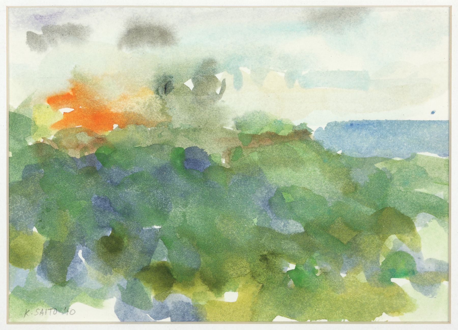 Kikuo Saito, Rincon #73, 2010    Watercolor on paper 5 1/2 x 7 1/4 inches