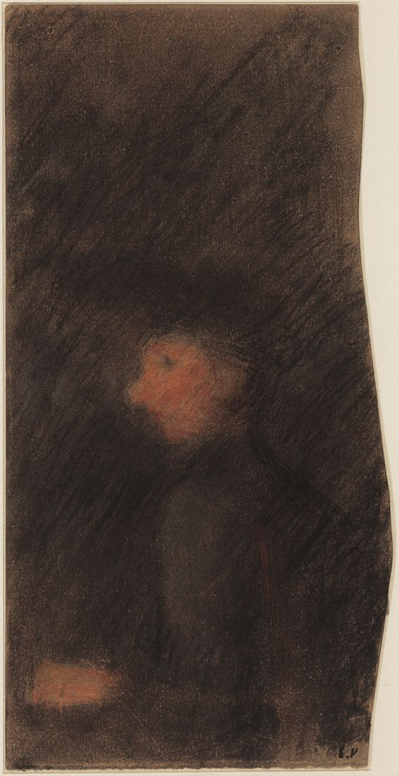 Edouard Vuillard, Woman in Profile, c. 1890, Pastel on paper 9½ × 4½ inches