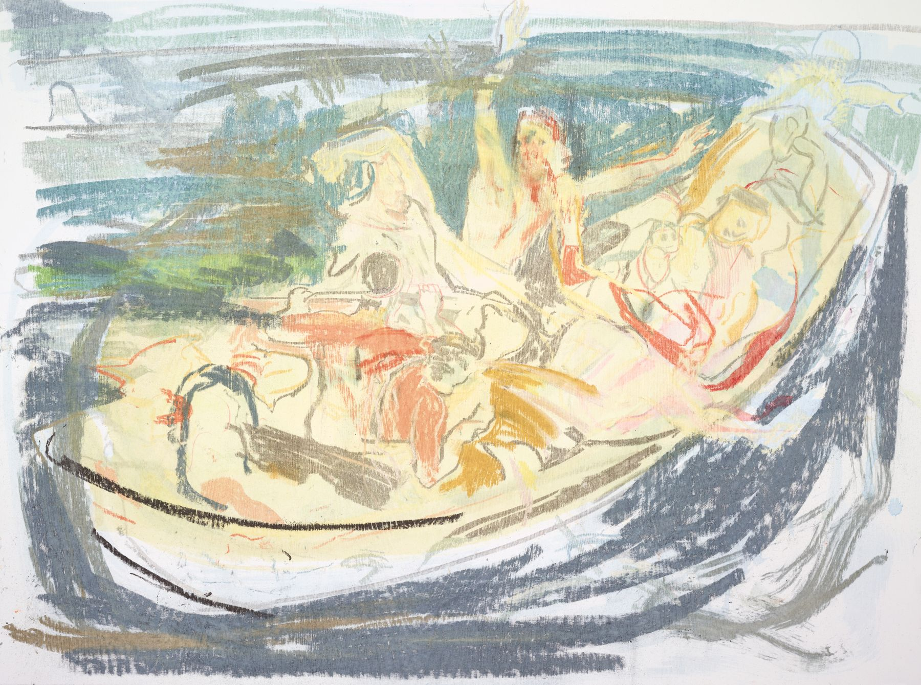 Cecily Brown, Christ Asleep During the Tempest (After Delacroix), 2016