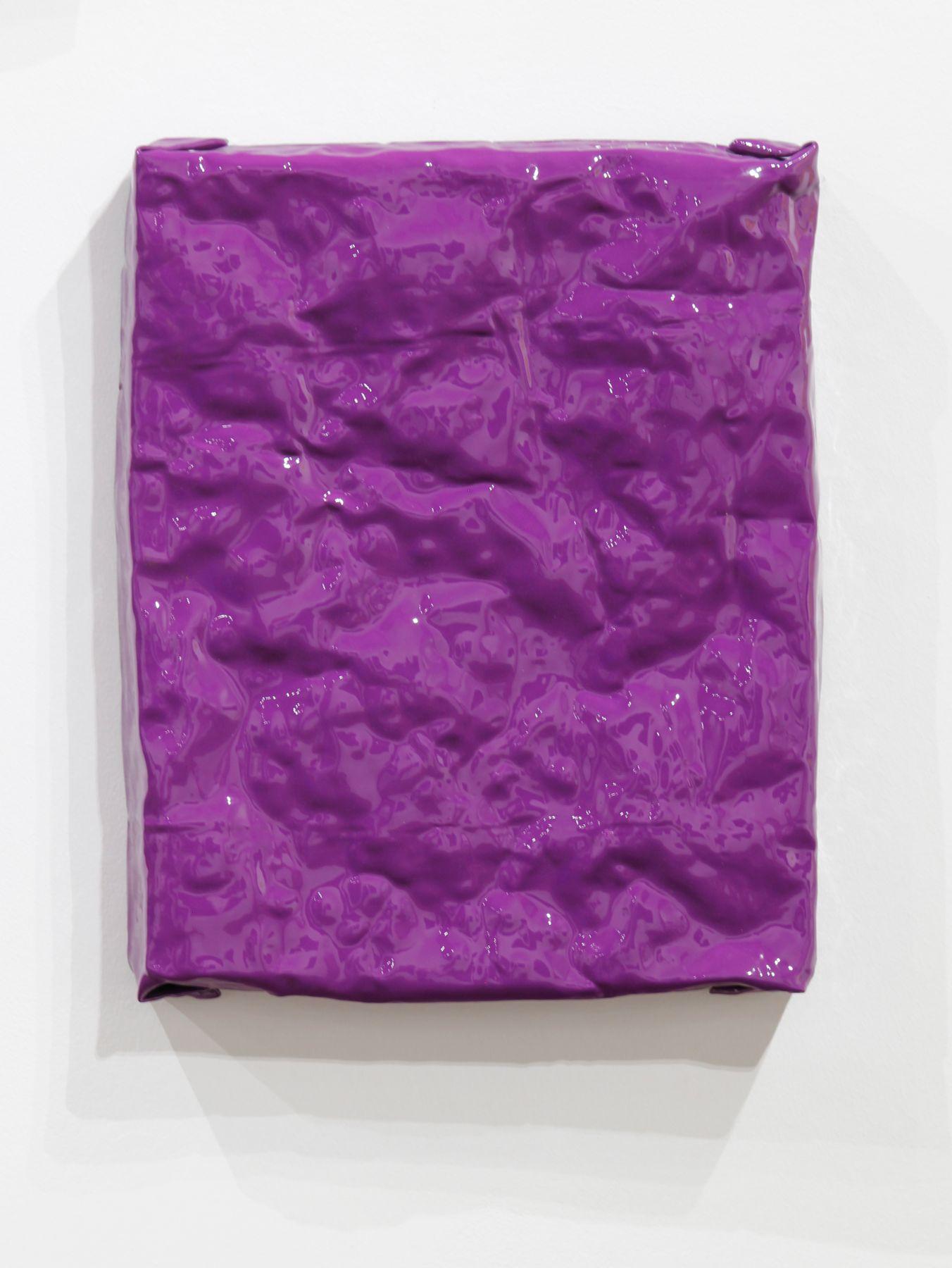 purple painting shiny wall sculpture minimalism