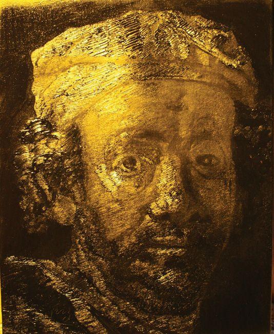 """Rembrandt's Self Portraitä¼¦å‹ƒæœ—一自ç""""»åƒ"""