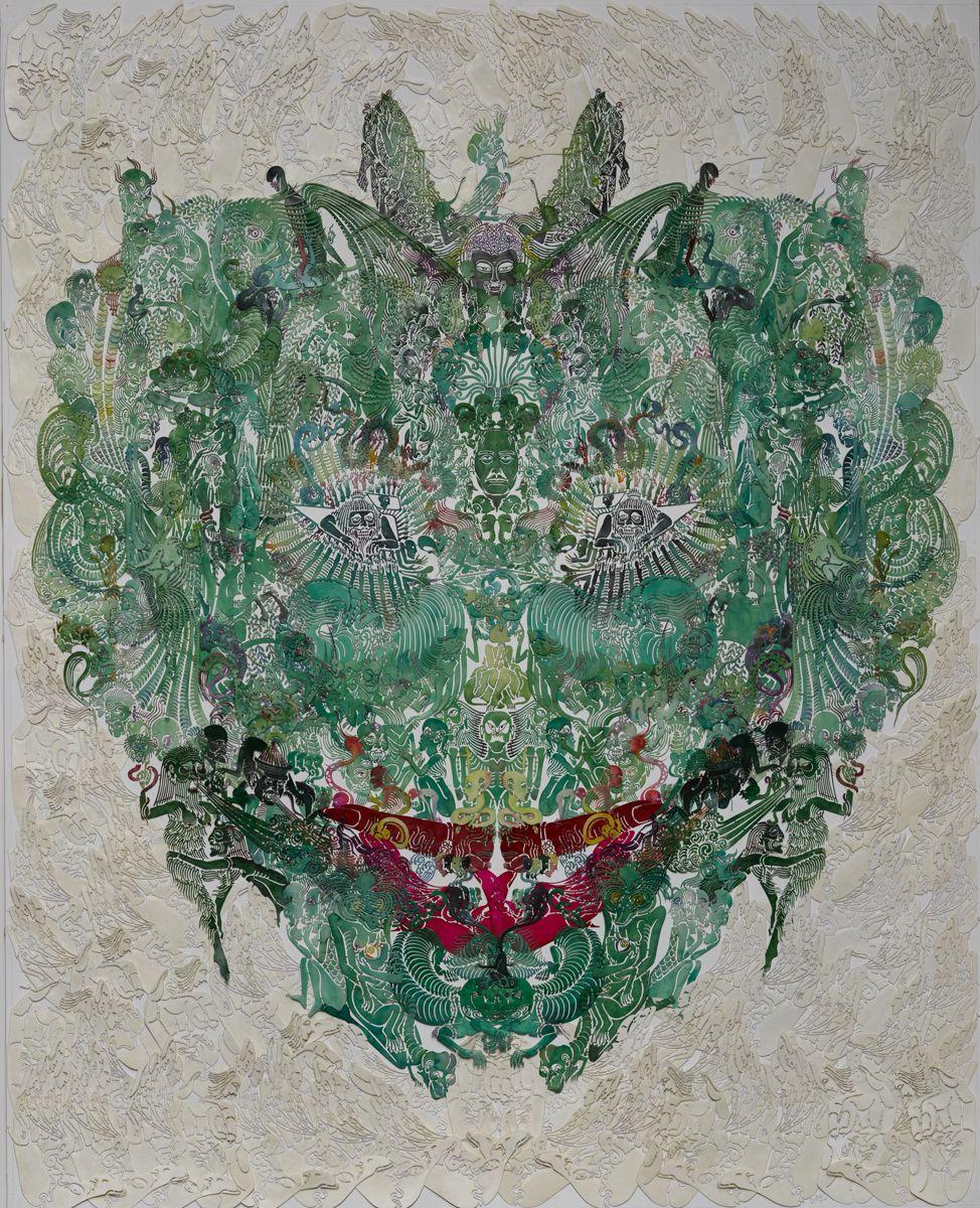 Wu Jian'ané'¬å»ºå®‰(b. 1980), Faces-Mantisèž³èž', 2014