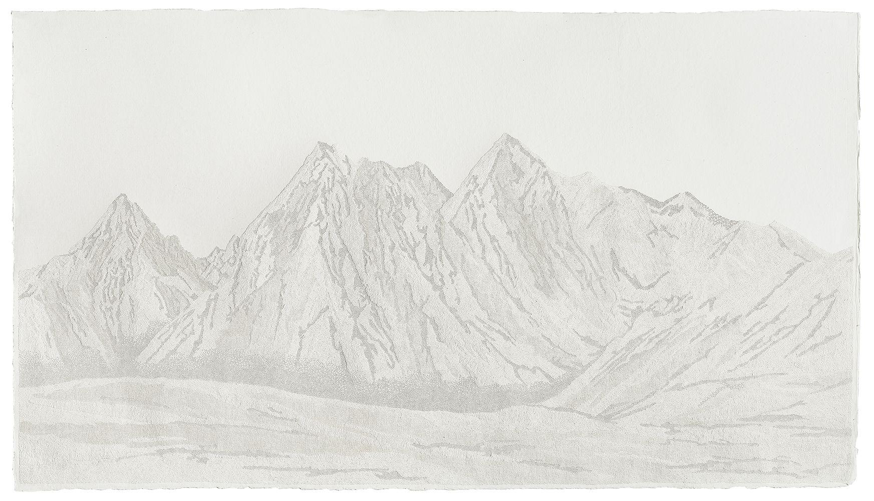 Fu Xiaotong 付小桐 (b. 1976), Mountain – 341,320 Pinpricks 341,320 孔之山, 2015