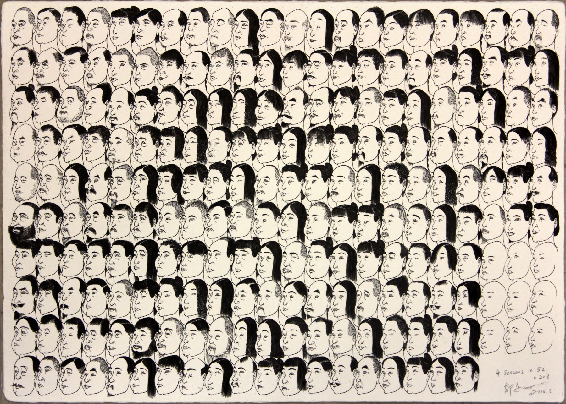 "208 Painted Faces 208 å¼å·²ç""»æˆçš""è""¸"