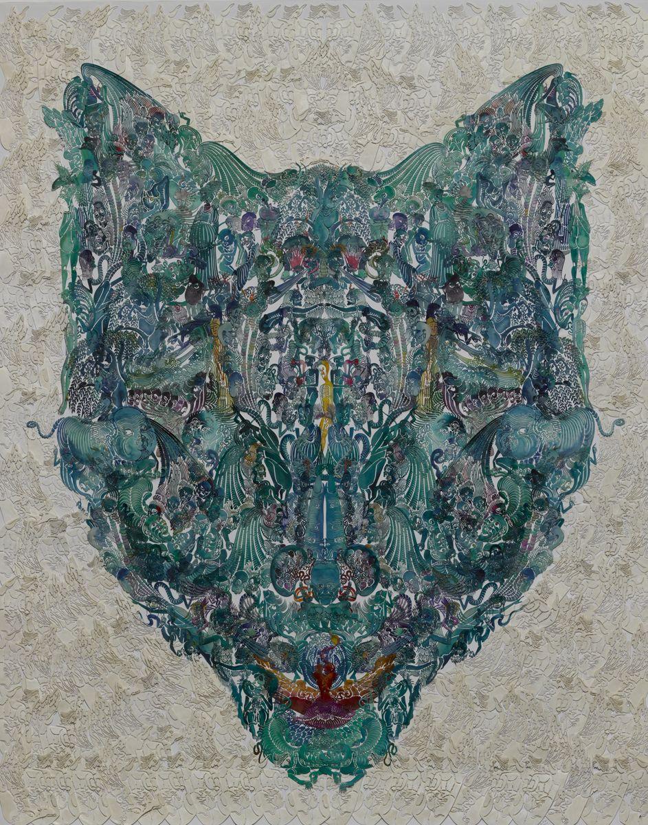 Wu Jian'ané'¬å»ºå®‰(b. 1980), Faces-Wolfç‹¼, 2014