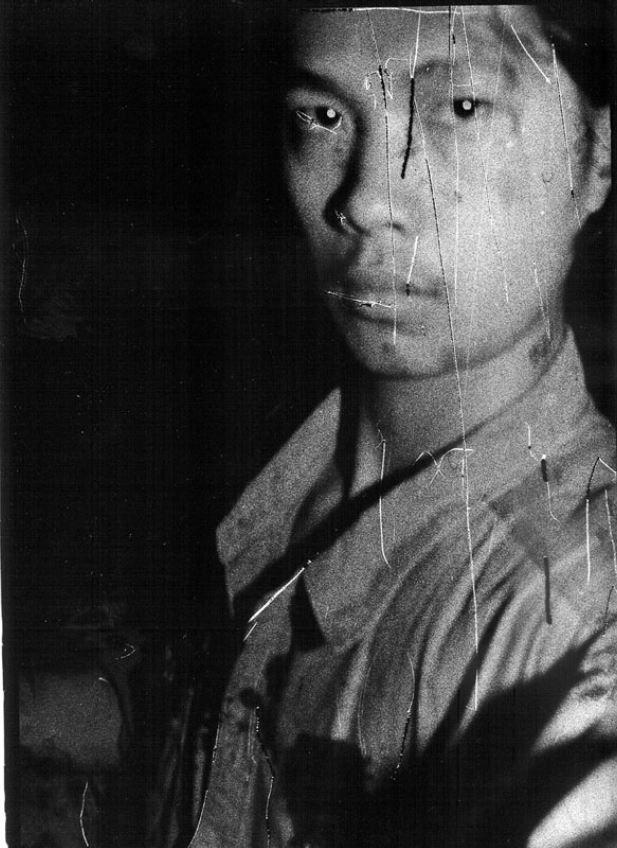 Self-portrait, East Village, Beijing 自拍像,东村, 北京, 1994