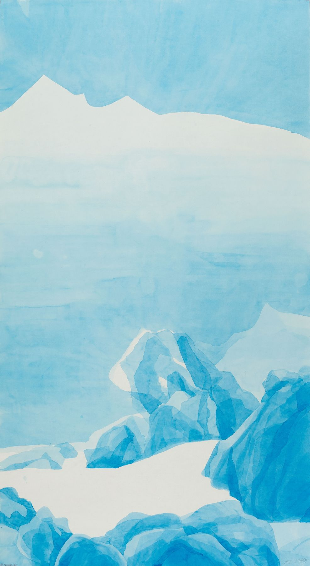 Blue Mountain #1: for Wang Wei 蓝山 #1:致王维