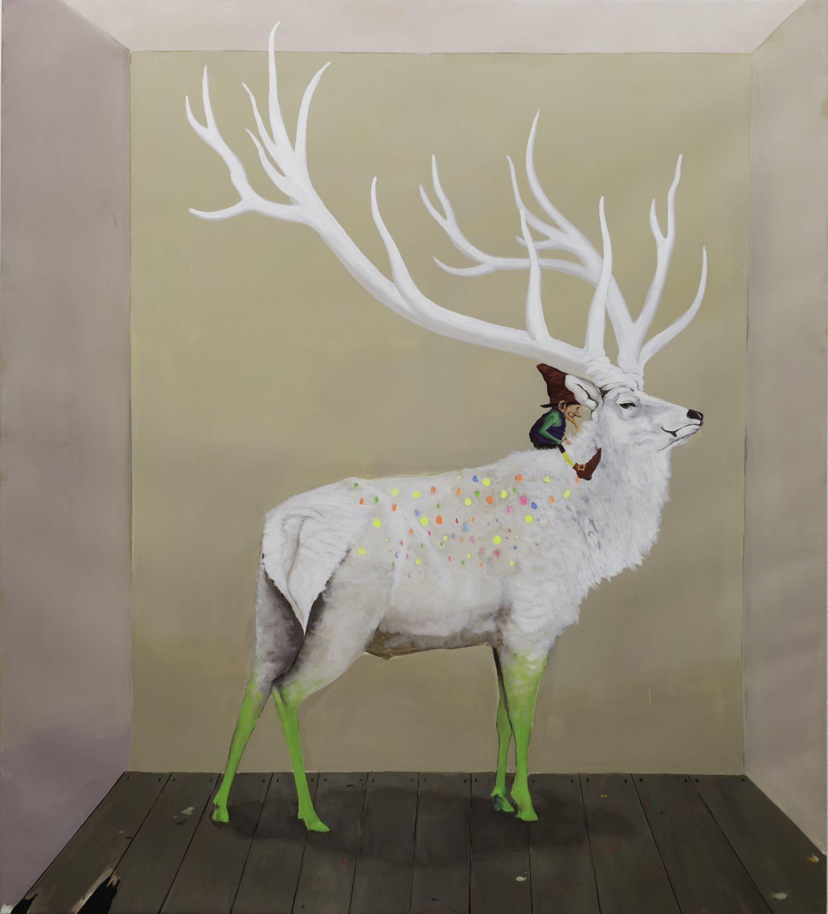 GAMA (b.1977), A Deer of Nine Colors 九色鹿, 2014