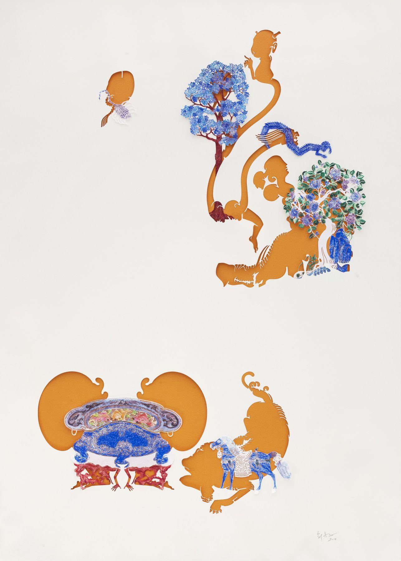 "Wu Jian'ané'¬å»ºå®‰(b. 1980), Orange-Red Gardenæ©™çº¢è‰²çš""花园, 2014"