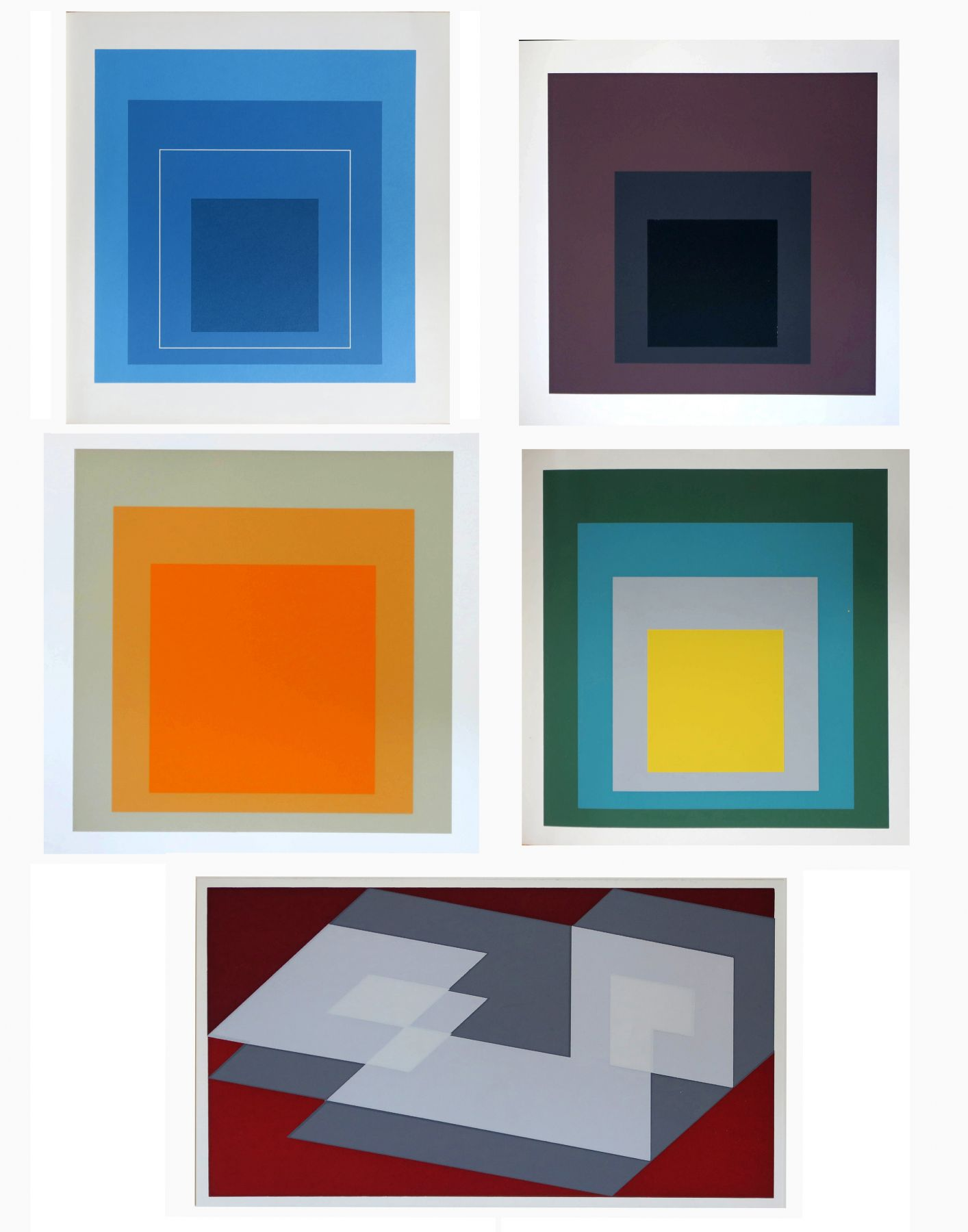Josef Albers, Alternate Projects