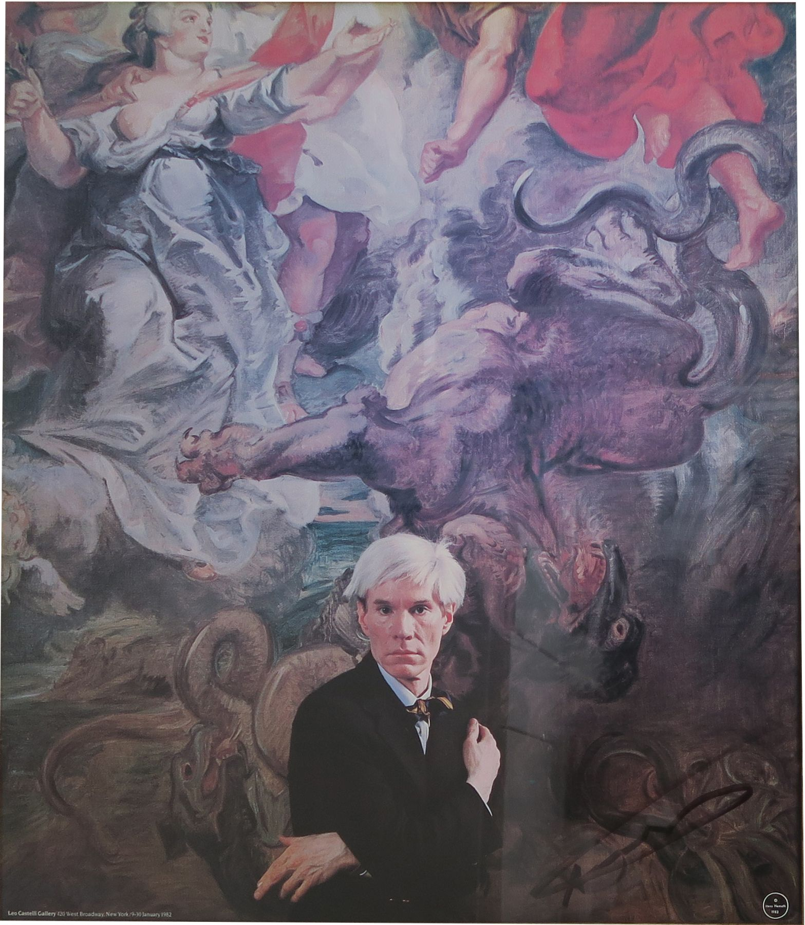 Hans Namuth, Portrait of Andy Warhol (exhibition poster signed by Warhol), Alternate Projects