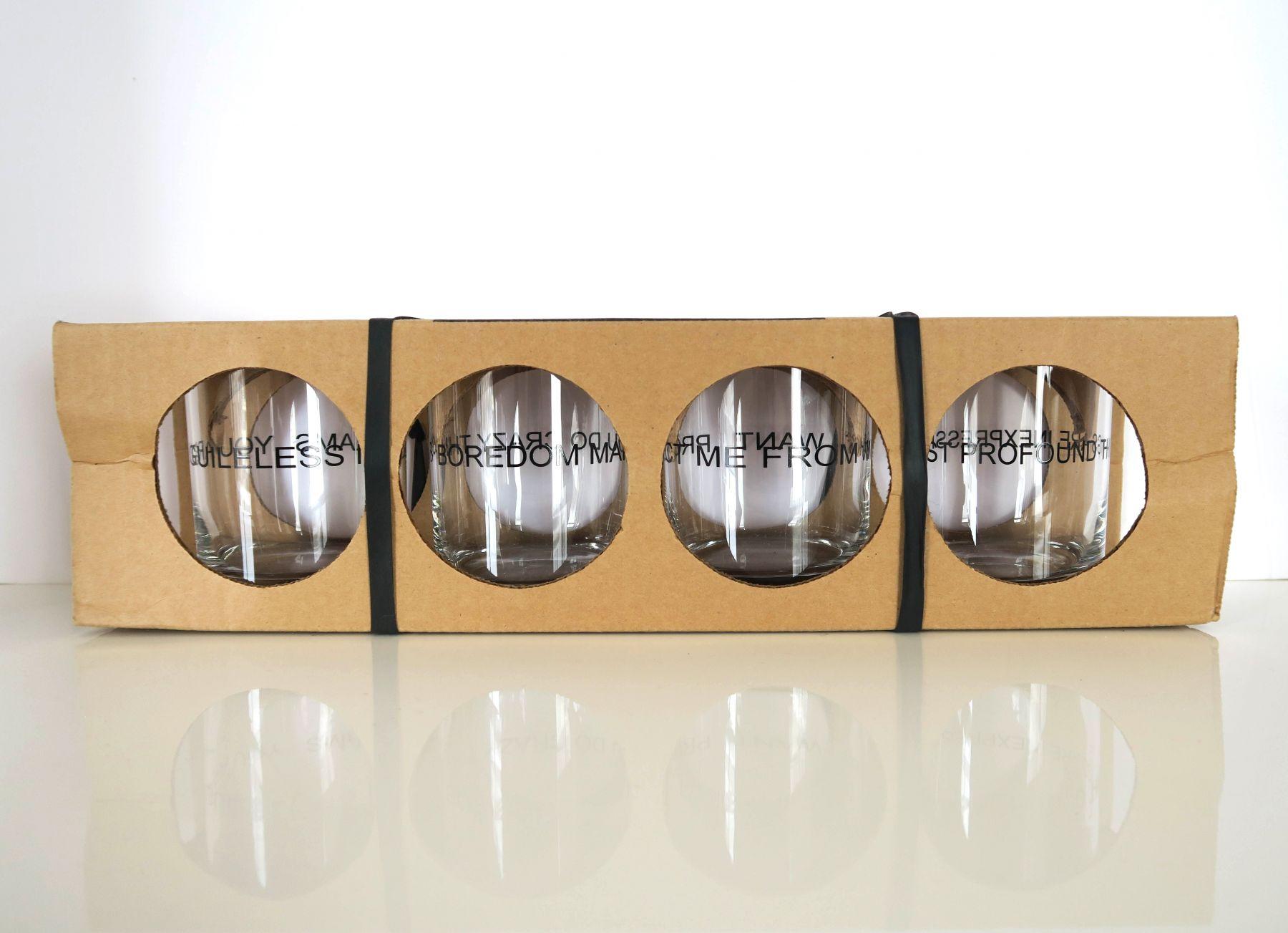Jenny Holzer, Truisms glasses, Alternate Projects