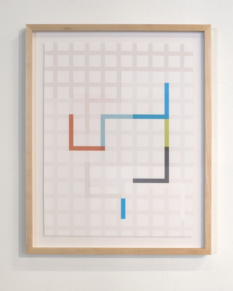 "James Woodfill Code Grid #4, archival digital print collage, 22"" x 17"", 2019"