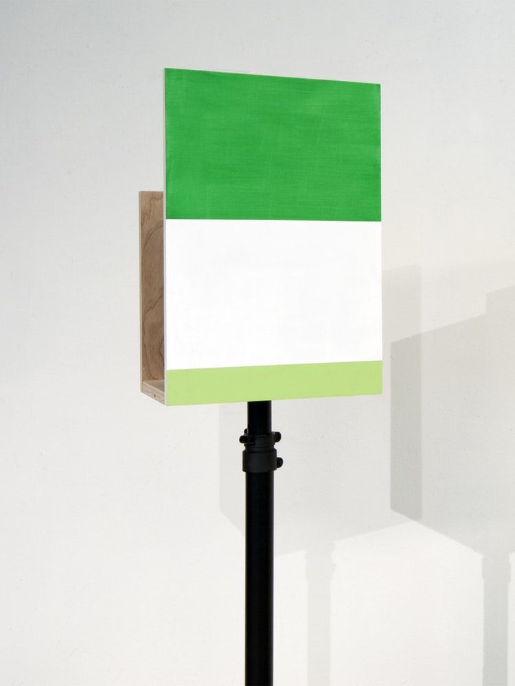 "James Woodfill Box Signal #4, mixed media, 18"" x 12"" x 9"" (without stand), 2019"