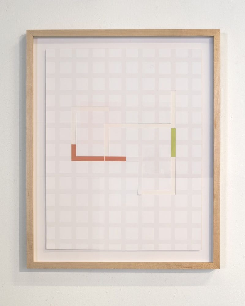 "James Woodfill Code Grid #3, archival digital print collage, 22"" x 17"" (framed), 2019"