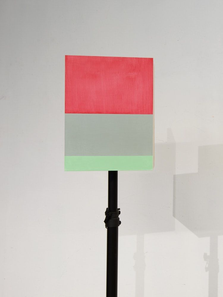 "James Woodfill Box Signal #2, mixed media, 16"" x 12"" x 9"" (without stand), 2019"