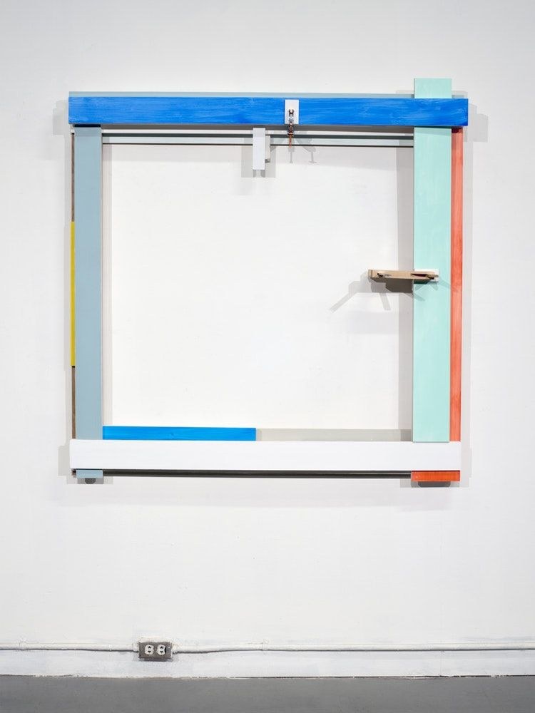 "James Woodfill Frame Sequence #5, mixed media, 50"" x 48"" x 13"", 2019"