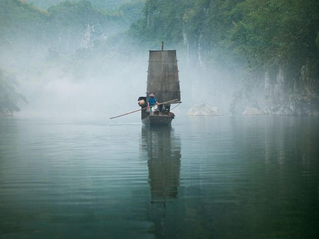 Yishan Island, Mist (Ten Thousand Waves), 2010. Endura Ultra photograph, 70.87 x 94.49 inches (180 x 240 cm). MP 86