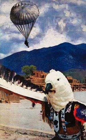 Apparition (Indian Dancer II), 2007. Archival inkjet print on watercolor paper w/watercolor and collage. MP D-156