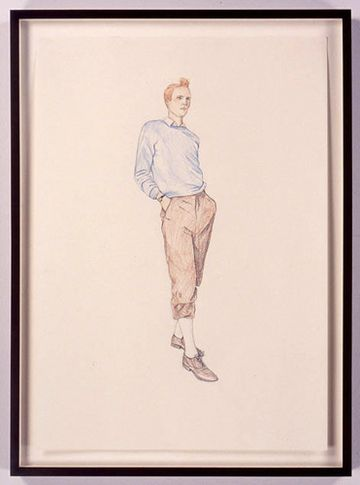 TinTin 4, 2005. Colored pencil drawing on paper, 23.4 x 16.5 inches. MP D-10