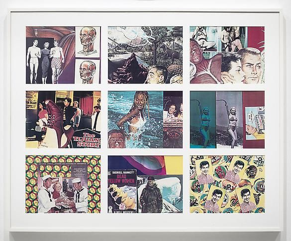 Untitled, 1976. 9 Color Xeroxes, 8 1/2 x 11 inches (each image size), (21.6 x 27.9 cm); 31 7/8 x 39 3/8 inches (total frame size), (81 x 100 cm). MP D-512