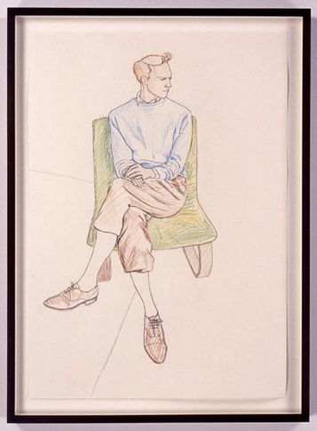 TinTin 3, 2005. Colored pencil drawing on paper, 23.4 x 16.5 inches. MP D-9