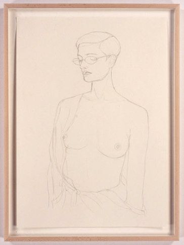 Anne, 2005. Pencil drawing on paper, 23.4 x 16.5 inches. MP D-5