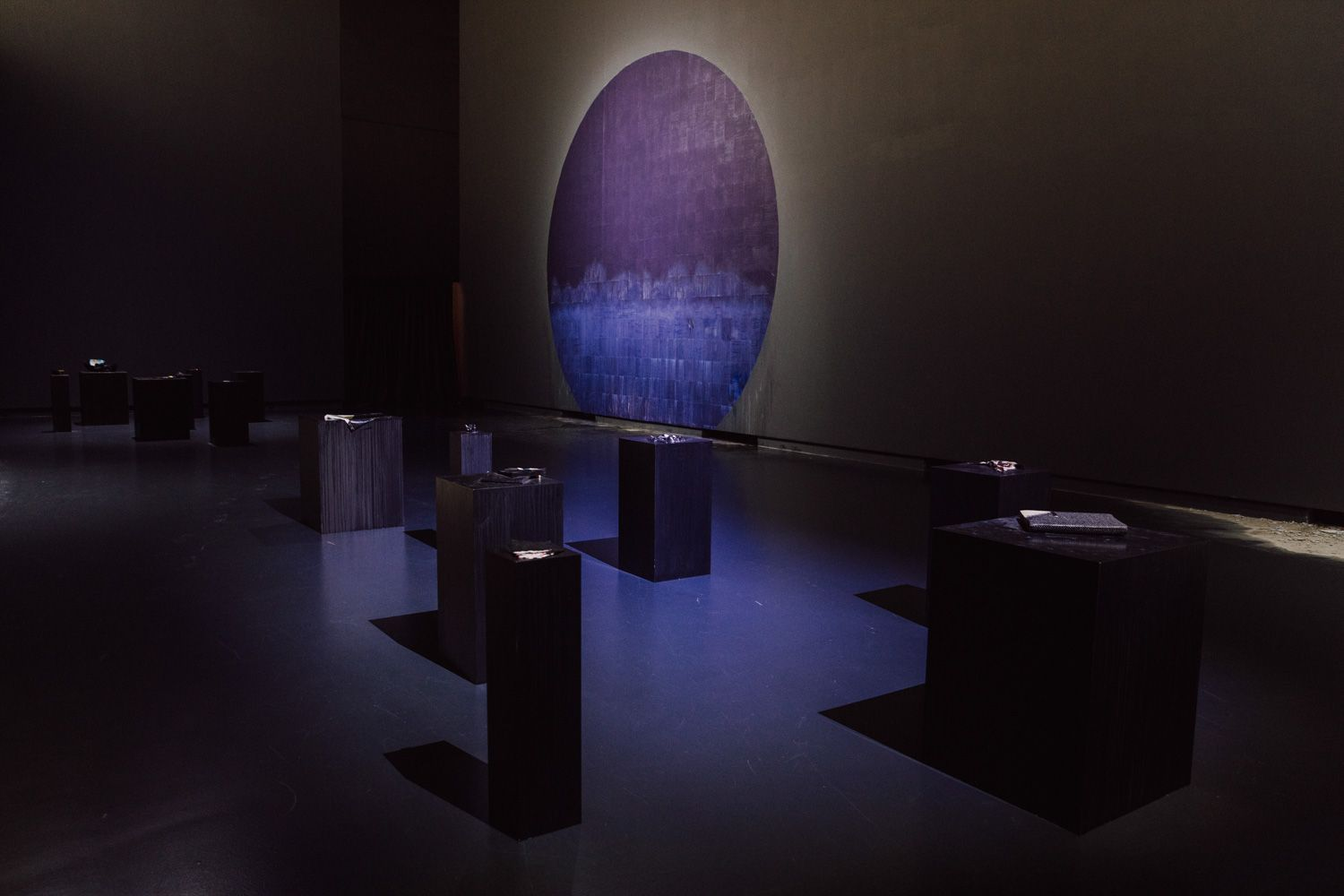 Latifa Echakhch's The Sun and the Set installation at BPS22
