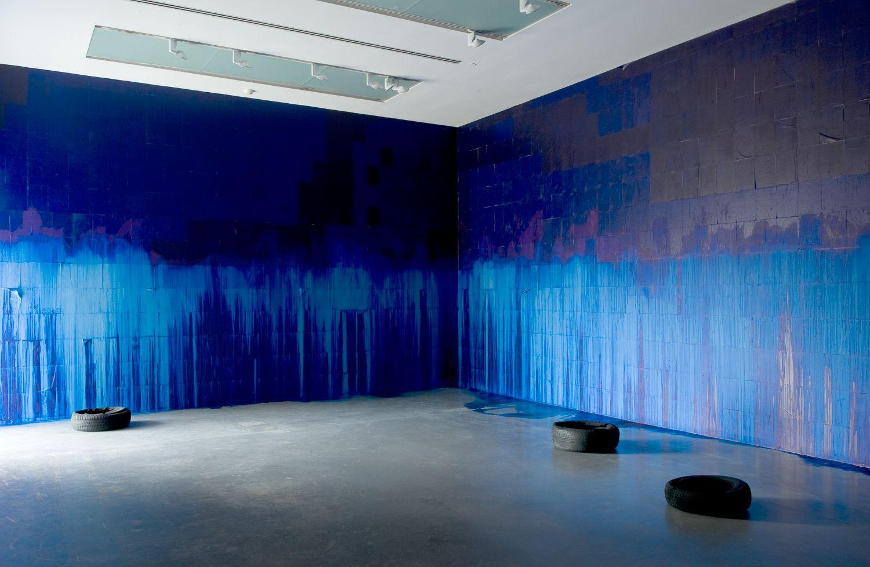 Latifa Echakhch's A Chaque Stencil une Révolution installation view