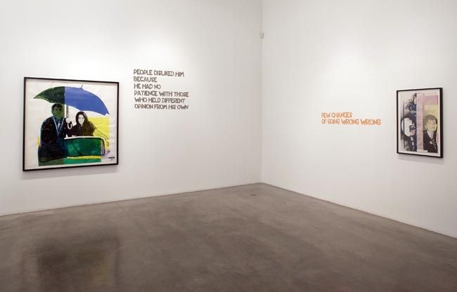 Paulina Olowska, installation view, 2009. Metro Pictures, New York.
