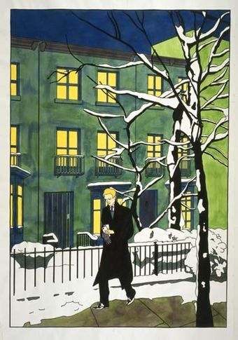 Simon in Fort Greene, 2005. Acrylic and ink on paper, 136 x 100 inches (345.4 x 254 cm). MP 4