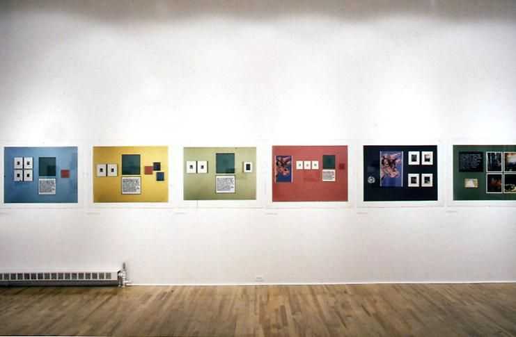 """""""Arrangements of Pictures,"""" installation view, 1982. Metro Pictures, New York."""