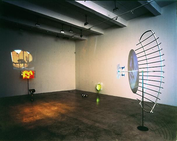 """Antennae Pods Transmissions,"" installation view, 2001. Metro Pictures, New York."