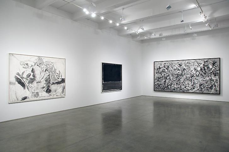 "Robert Longo, ""Gang of Cosmos."" Installation view, 2014. Metro Pictures, New York."