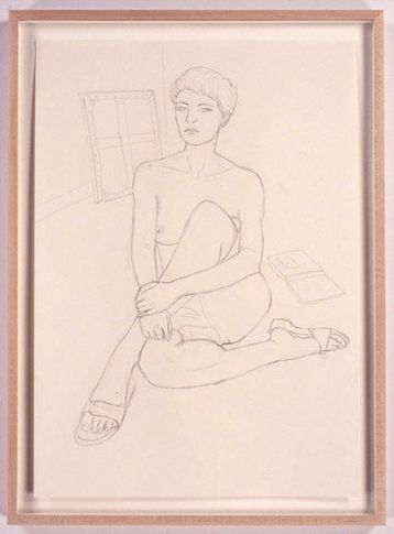 Margit, 2005. Pencil drawing on paper, 23.4 x 16.5 inches. MP D-4