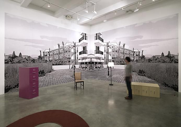"""Suburban Past Time,"" installation view, 2012. Metro Pictures, New York."