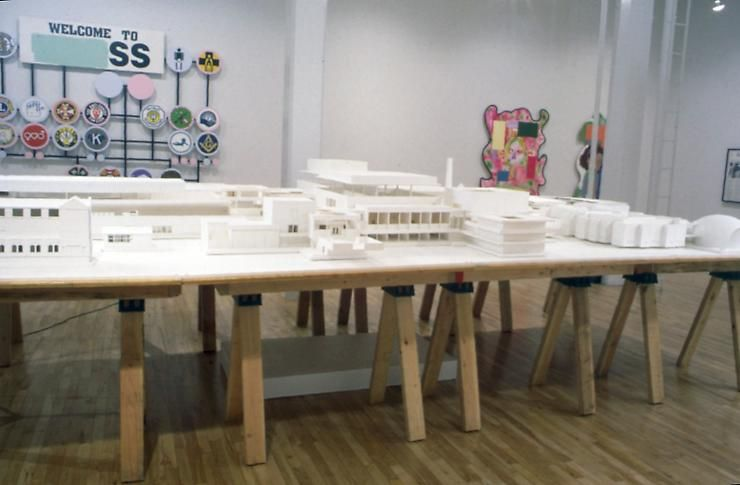 """Towards a Utopian Complex,"" installation view, 1995. Metro Pictures, New York."