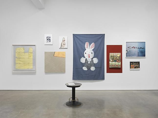 """""""Bad Conscience,"""" installation view, 2014. Metro Pictures, New York."""