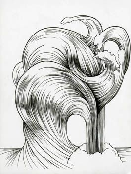 Forces of Nature/Hair, 2011. Ink on paper, 12 x 9 inches (image size), (30.5 x 22.9 cm); 14 5/8 x 11 5/8 inches (frame size), (37.1 x 29.5 cm). MP D-494
