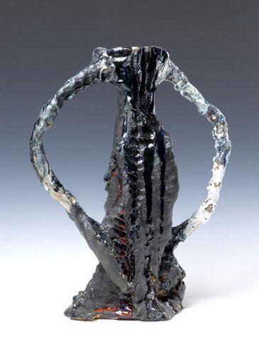 Blackout Romeo, 2007. Ceramic, formica pedestal. Sculpture: 18.5 x 15 x 7 inches (47 x 38.1 x 17.8 cm); pedestal: 40 x 20 x 20 inches (101.6 x 50.8 x 50.8 cm). MP 37