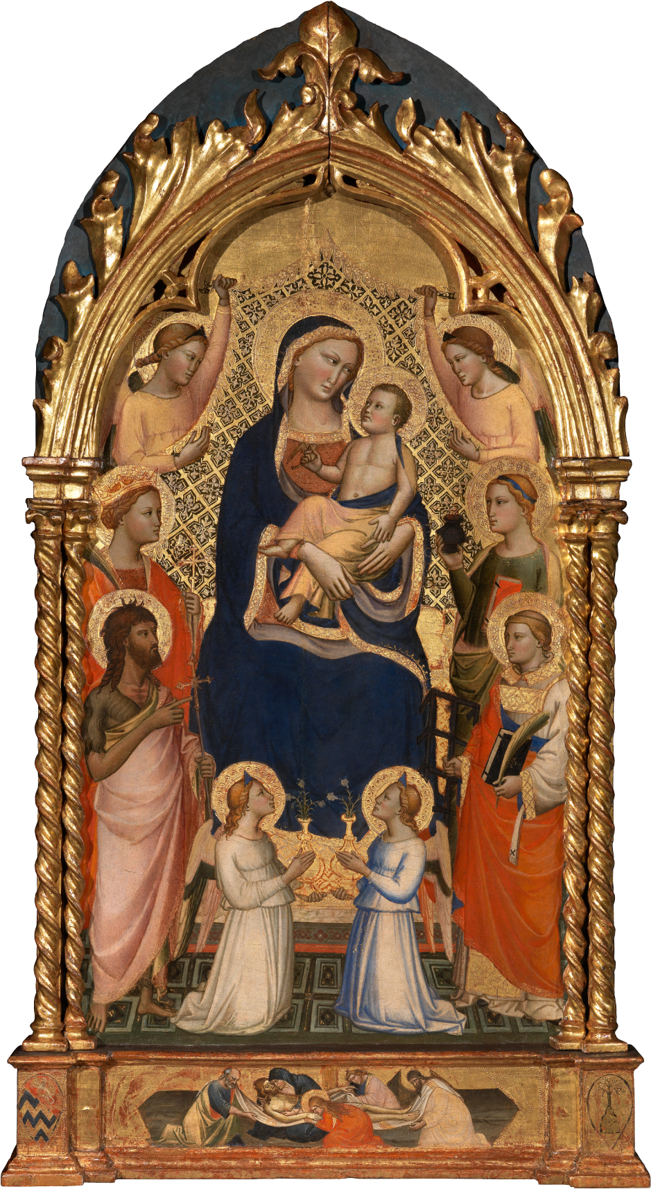 Niccolò di Pietro Gerini The Trinity with the Virgin and Four Kneeling Angels Private Collection Nicholas Hall Art Gallery Dealer Old Masters